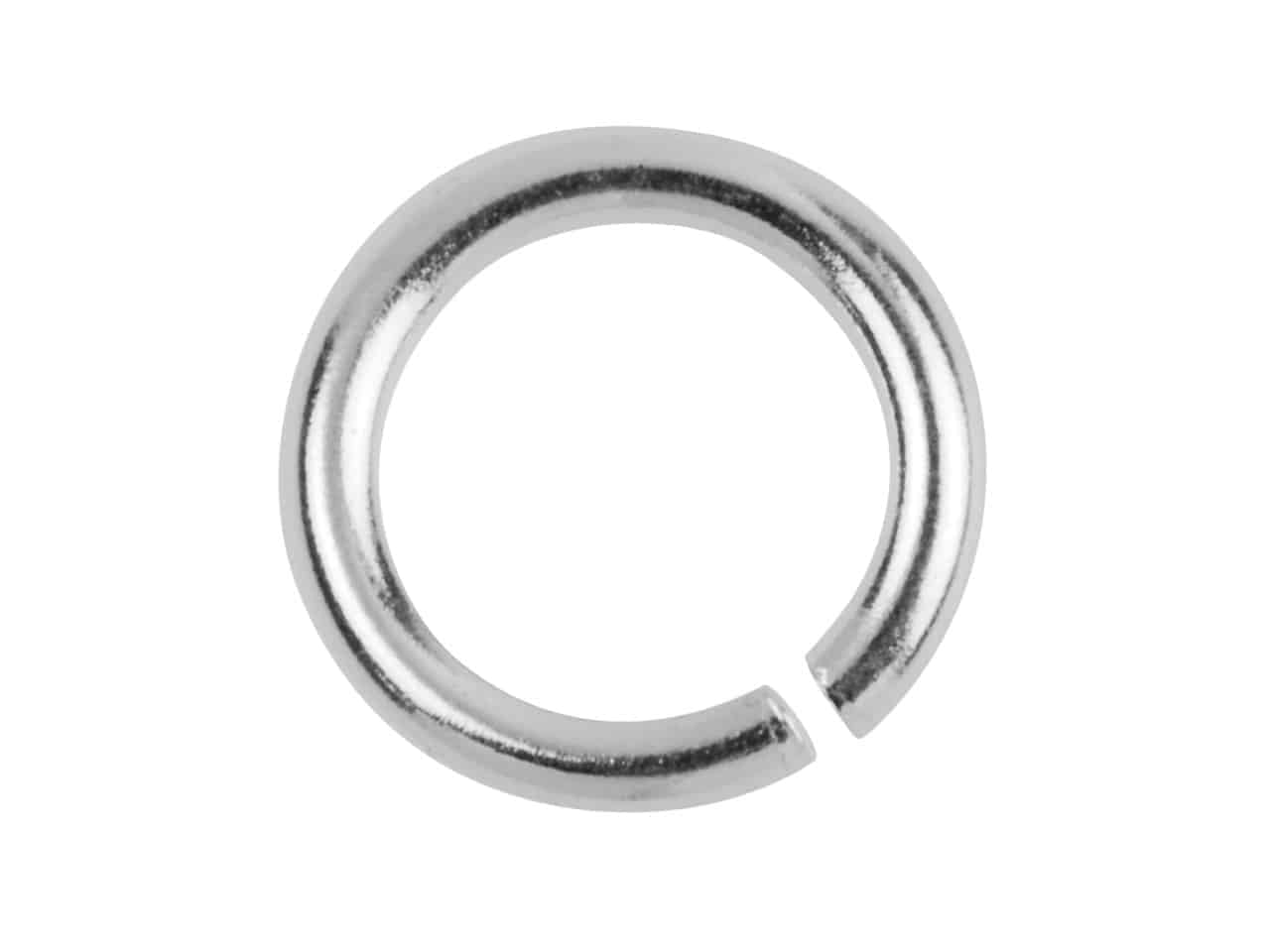 Sterling silver heavy jump ring mm open